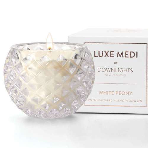 White Peony Luxe Medi Candle by Downlights