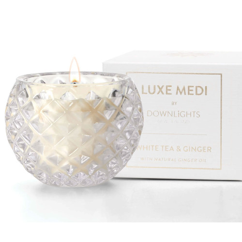 White Tea and Ginger Luxe Medi Candle by Downlights