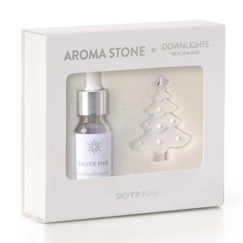 Silver Pine Christmas Tree Aroma Stone by Downlights