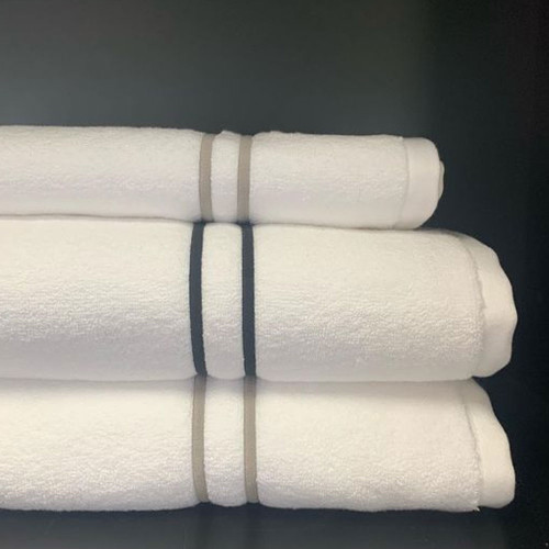 Cord Embroidered Towels by Seneca