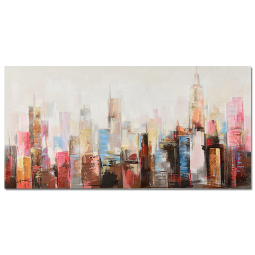 Cityscape Canvas Art by Linens and More