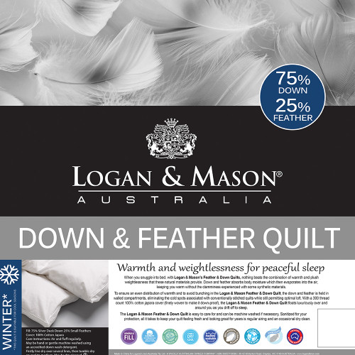 25% Feather and 75% Down Winter Duvet Inner by Logan and Mason
