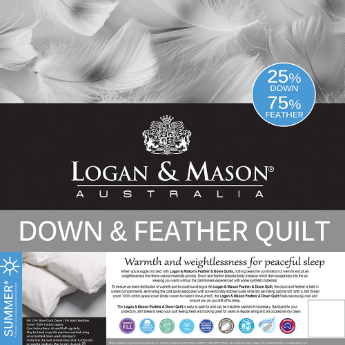 75% Feather and 25% Down Duvet Inner by Logan and Mason