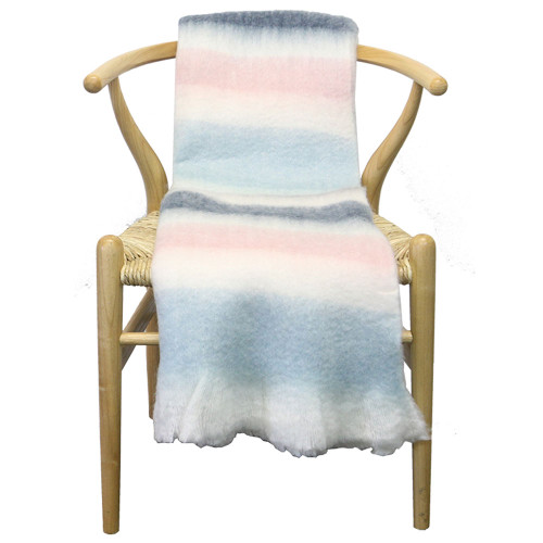 Pastel Stripe Throw by Le Forge