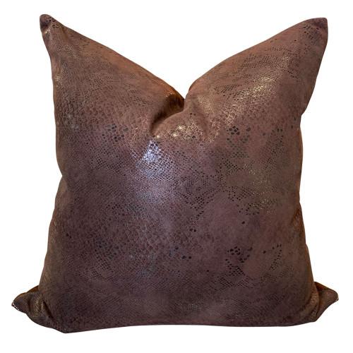 Dark Snake Skin Foil Cushion Cover by Le Monde