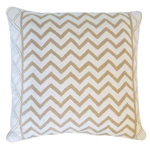 Beige Waves Cushion Cover by Le Monde