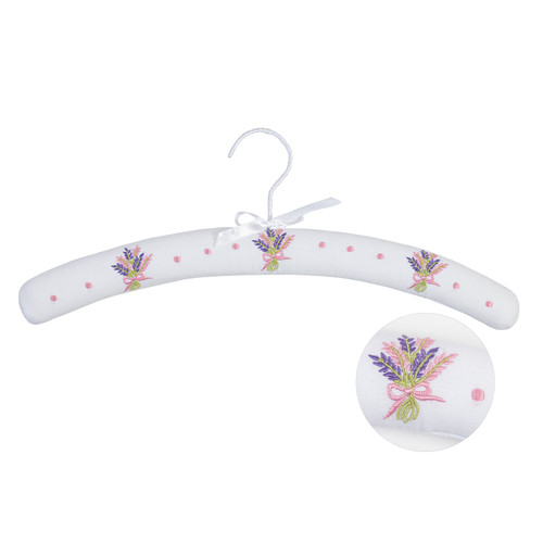 Floral Bunch Embroidered Coat Hanger by Linens and More