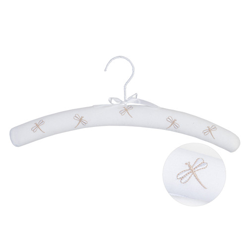Dragonfly Embroidered Coat Hanger by Linens and More