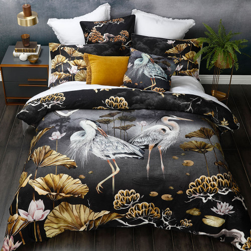 Orient Midnight Duvet Cover Set by MM Linen