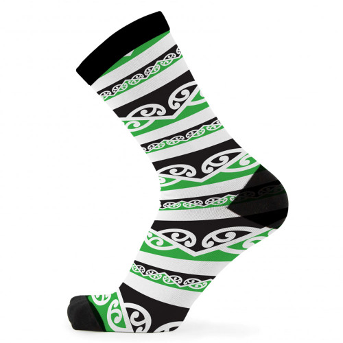 Kowhaiwhai Green Bamboo Socks by Had Socks
