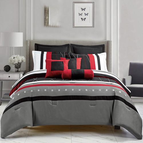 Elijah 8 Piece Comforter Set by Marlborough