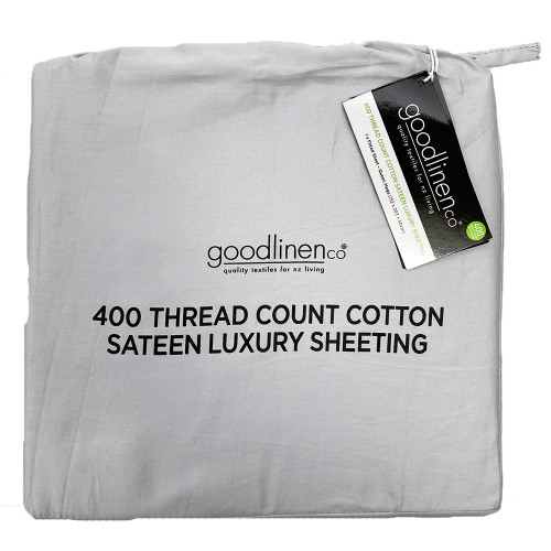 Pewter 400 Thread Count 100% Cotton Sateen Luxury Sheeting by Good Linen Co