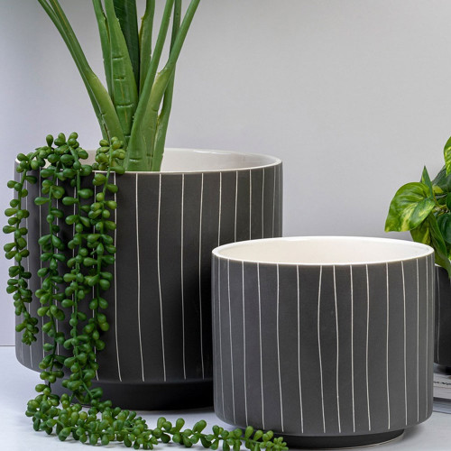 Blurred Lines Pot by Linens and More
