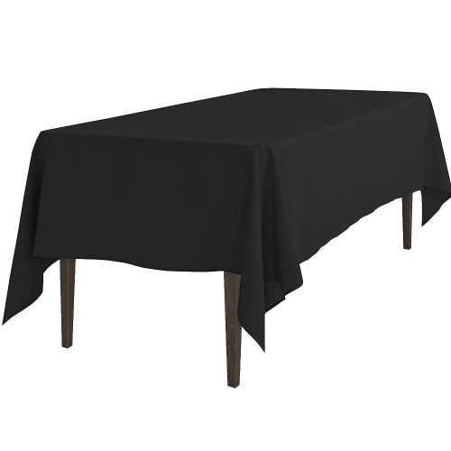 Clearance Commercial Black Polyester Designer Table Cloth