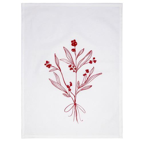 Mistletoe Bouquet Tea Towel by Linens and More