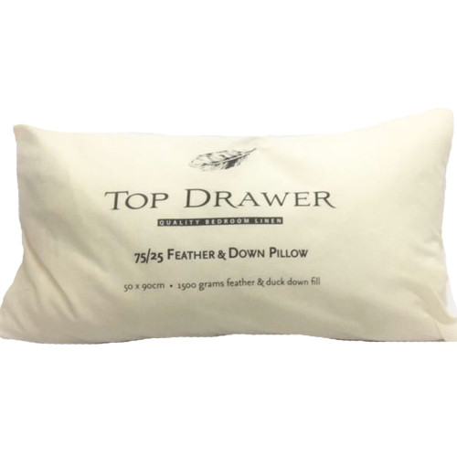 75/25 Feather and Down Lodge Pillow by Top Drawer