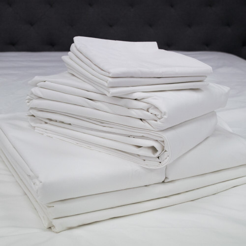 Actil Commercial by Sheridan Supercale White Flat Sheets/Pillowcases