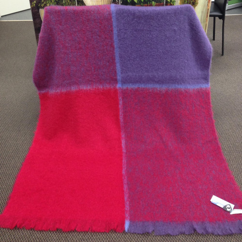 Windermere Plaid Mohair Throw