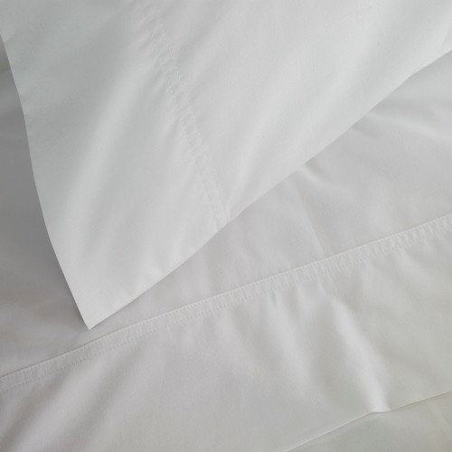 310 Percale White Sheet Set by Baksana