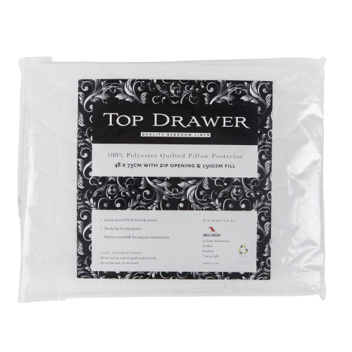 Quilted Pillow Protector by Top Drawer