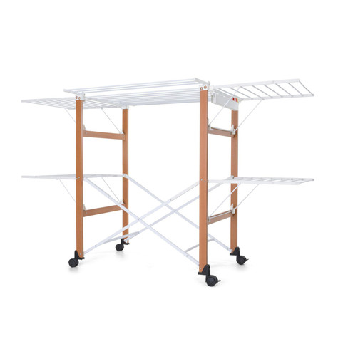 Gulliver Clothes Airer Walnut/White by Foppapedretti