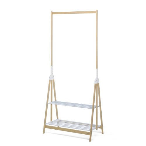 Stand Up Clothes Rack Natural/White by Foppapedretti