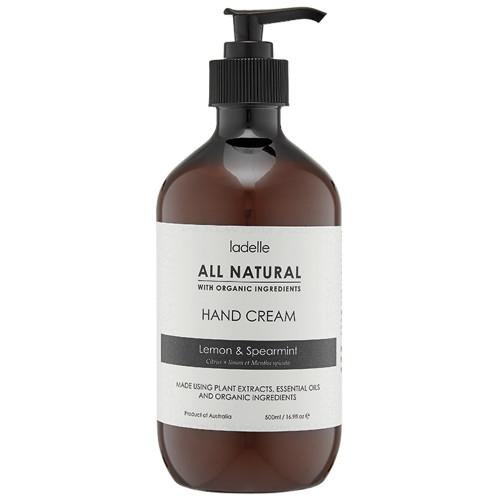 All Natural Lemon & Spearmint Hand Cream by Ladelle