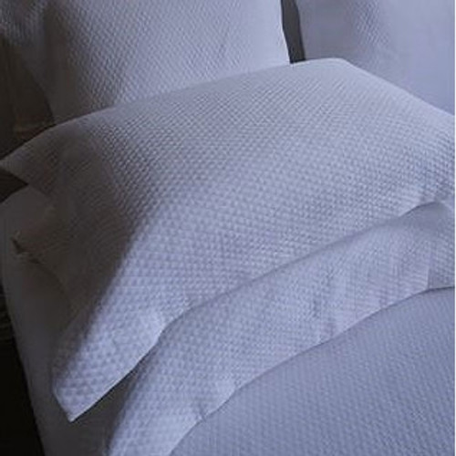 Diamond White Matelasse Pillowcase by Lilyfield