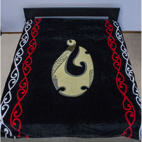 Supersoft 2 Ply Reversible Mink Blanket with Maori Hook