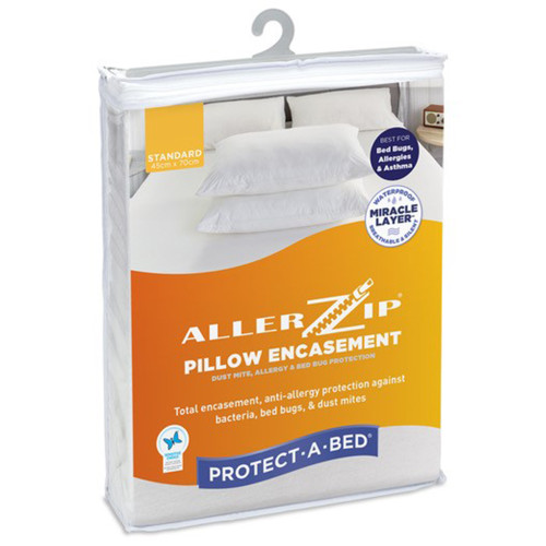 Allerzip Smooth Waterproof Pillow Protector by Protect-A-Bed