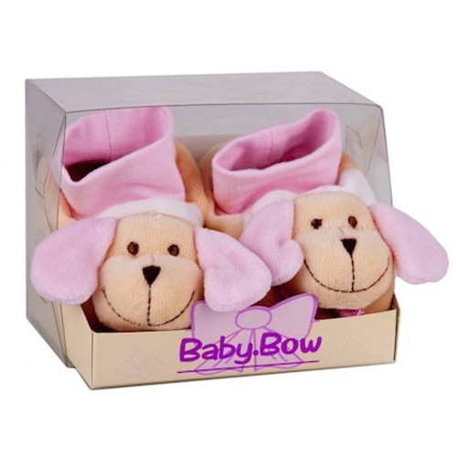 Cotton Baby Boots Puppy (Pink) by Baby Bow