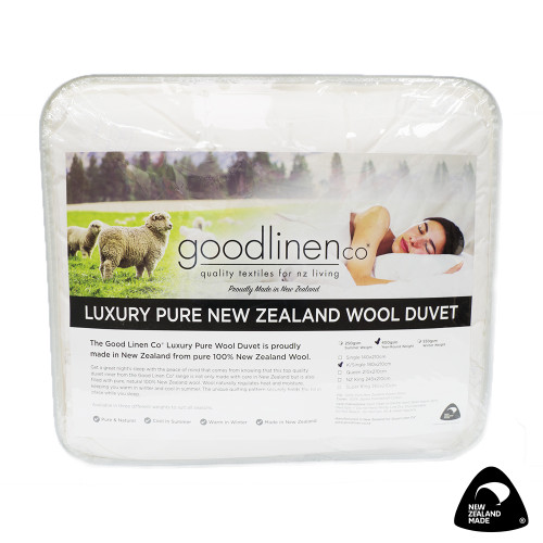 Luxury Pure New Zealand Wool Duvet Inner (Summer Weight) by Good Linen Co