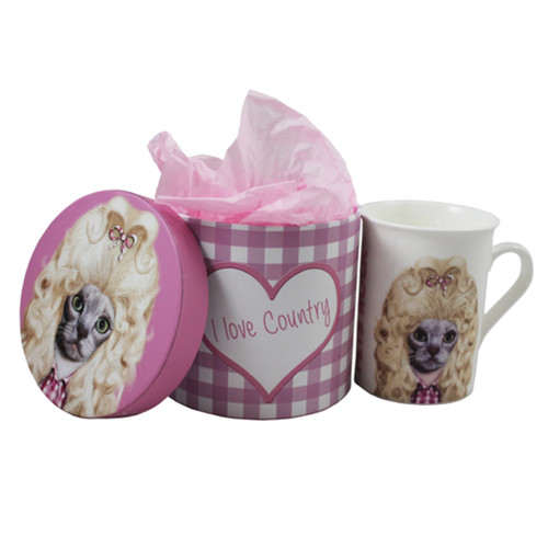 Clearance Country Mug and Gift Box by Pets Rock