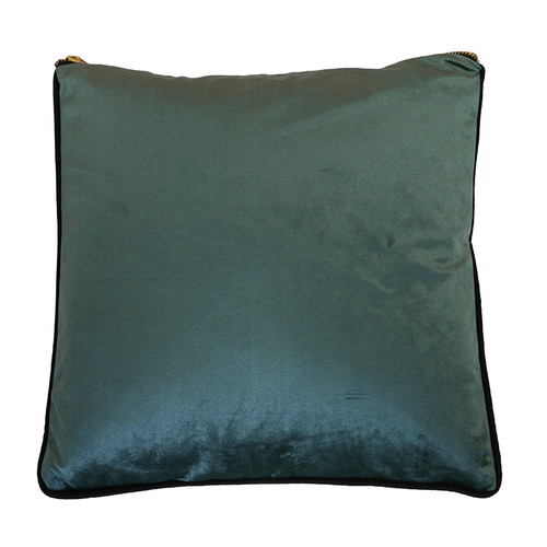 Velvet Piped Cushion by Le Forge