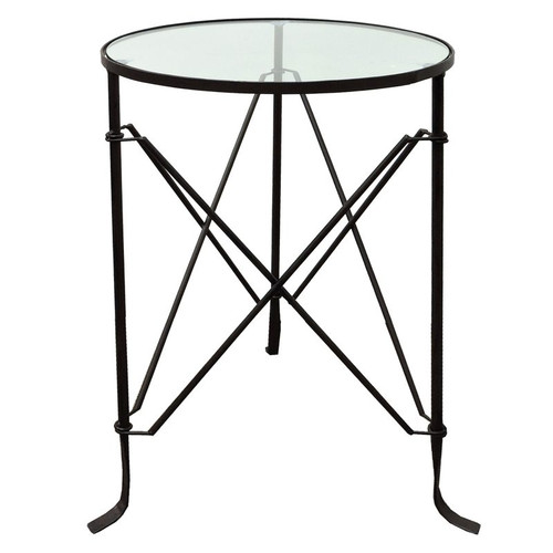 Villa Iron Side Table by Le Forge