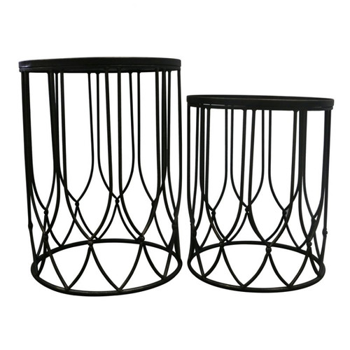 Chang Set of 2 Side Tables by Le Forge