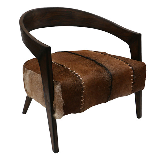 Gustavo Brown Armchair by Le Forge