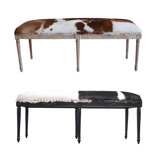 Goat Skin Double Stool by Le Forge