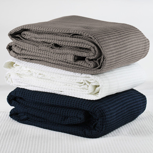 Cotton Waffle Blankets by JC