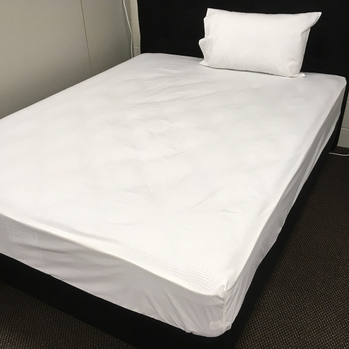 Commercial 250 Thread Count 50/50 Polycotton White Sheet Separates