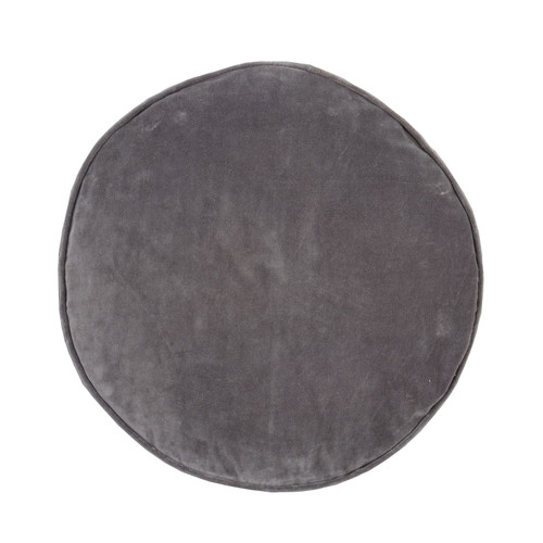 Velvet / Cotton Round Cushion by Linens & More