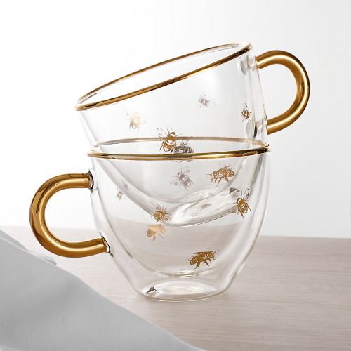 Honey Bee Glass Cup by Ashdene