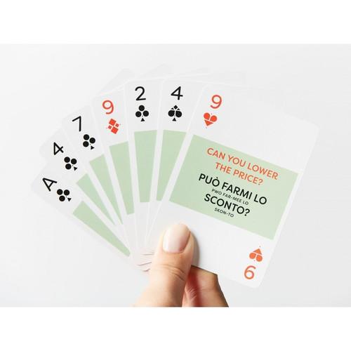 Italian Lingo Playing Cards by Lingo