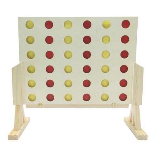 Wooden 4-IN-A-ROW Game by easy days