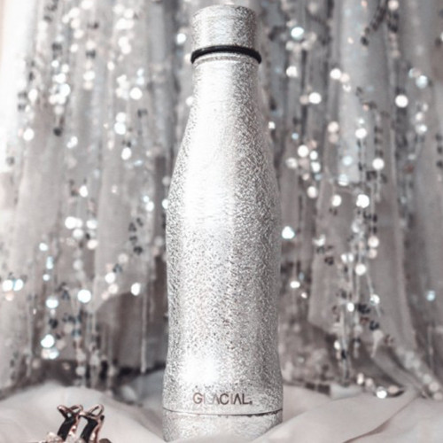 400ml Silver Bottle by Glacial