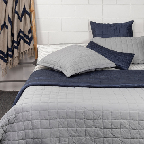 Logan Grid Quilt by Linens & More