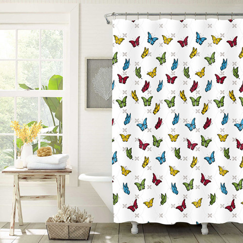 Patterned PEVA Shower Curtains by Elements