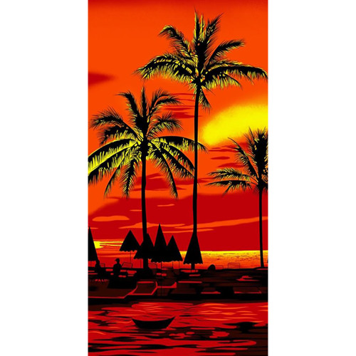 Red Sky Beach Towel by Elements