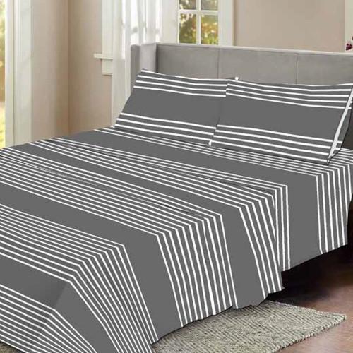 Stripe Flannelette Sheet Set by Elements