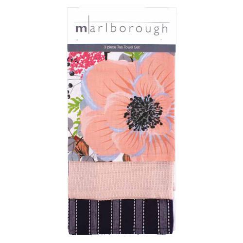 Flower 3 Piece Tea Towel Set by Marlborough